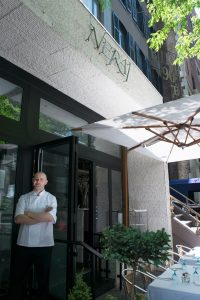 Chef Chris Christou at Nerai Restaurant in NYC