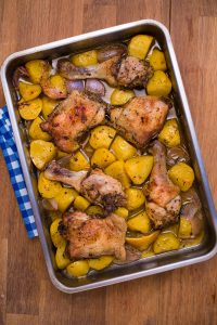 Greek roasted chicken with potatoes